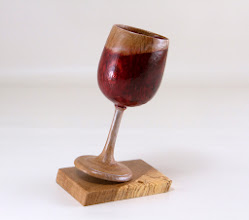 "Photo: Clif Poodry 6"" x 2"" x 3"" goblet [oak, dye] (one, single piece of wood)"
