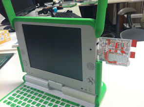 Photo: Paper mockup of XO Stick Mk 2 (notice the purpose of the little notch on the lower left corner)