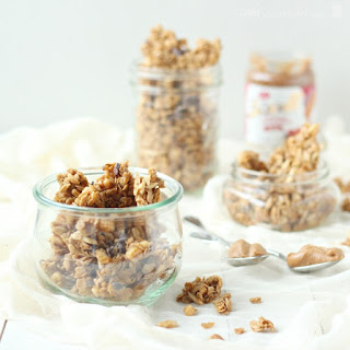 Cookie Butter Granola Clusters with Cacao Nibs.
