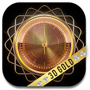 3D Golden Clock Widget