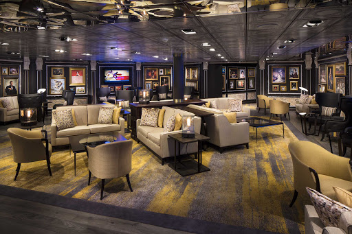 The Gallery Bar lounge on Holland America's Eurodam was introduced in early 2016.
