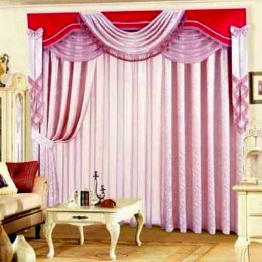 design idea of modern living room curtains