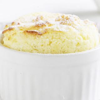 Citrus Souffles with White Chocolate Sauce