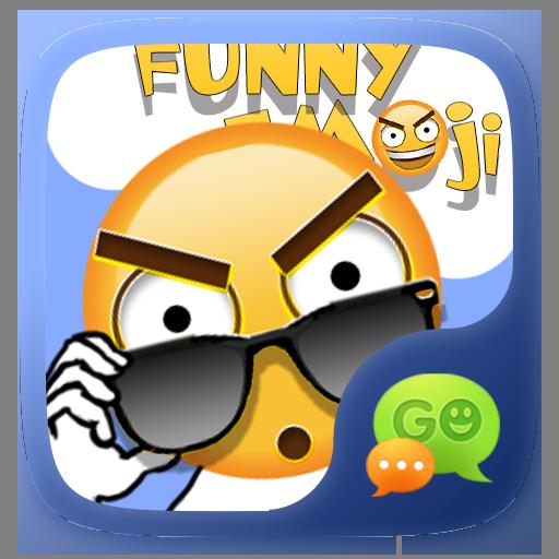FREE-GO SMS FUNNYEMOJI STICKER 個人化 LOGO-玩APPs