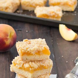 Peach Crumble Bars.