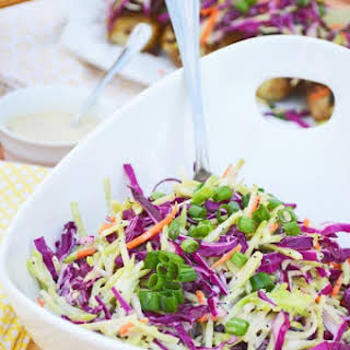 Red Cabbage and Broccoli Poppyseed Slaw.