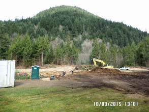 Photo: THE LEVELLED GROUND IS THE PLACE WHERE OUR MONASTERY WILL BE BUILT. JUST THE RIGHT POSITION HAVING THE MOUNTAIN AS BACKGROUND.
