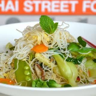 Stir-Fried Rice Noodles with Vegetables.