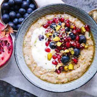 Oat and Zucchini Protein Porridge.