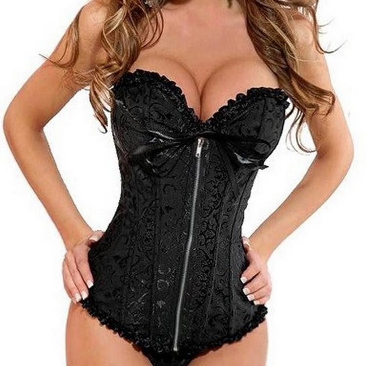 Sweetheart satin corset BLACK- Bridal, casual, slimming corsets