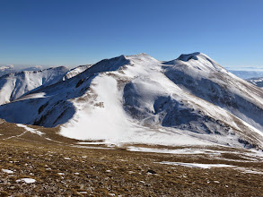 Photo: Sconfortante la scarsità di neve a 360°,sembra Maggio