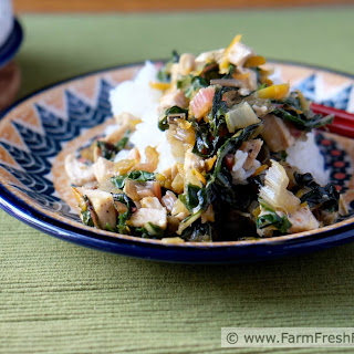 Colorful Chard and Chicken Stir Fry