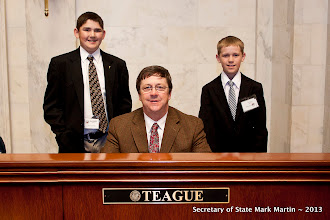 Photo: 3-27-13 Sen Teague with Cole and Brant Reeder