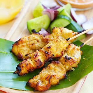 Grilled Curried Chicken Kebab