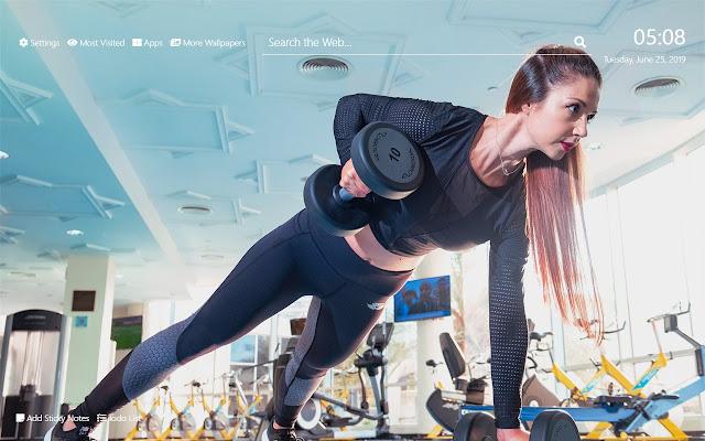 Core Fitness Wallpaper HD New Tab Theme