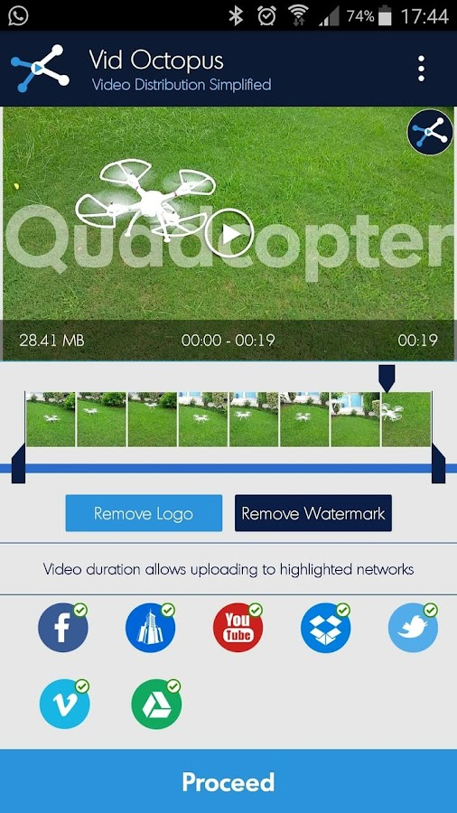 Vid Octopus - Video Uploader- screenshot