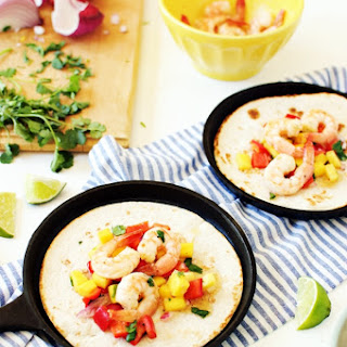 Honey Garlic Shrimp Tacos with Mango Salsa