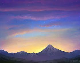 Photo: Sunset speed paint
