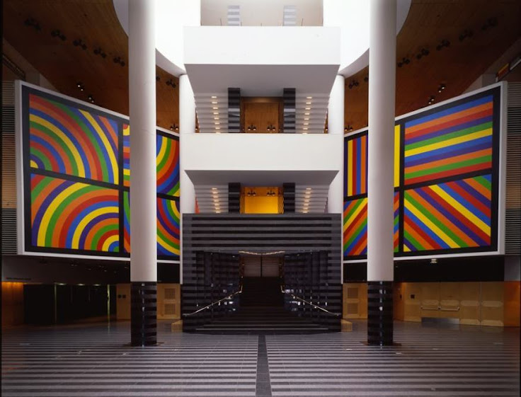 The original lobby for SFMOMA, designed by Mario Botta.
