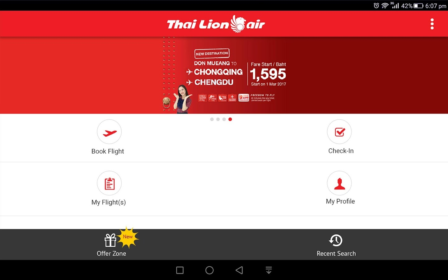 Thai Lion Air- screenshot