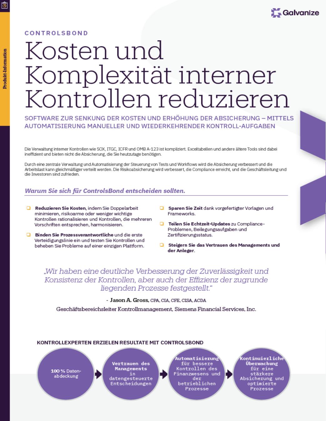 Kosten und Komplexität interner Kontrollen reduzieren