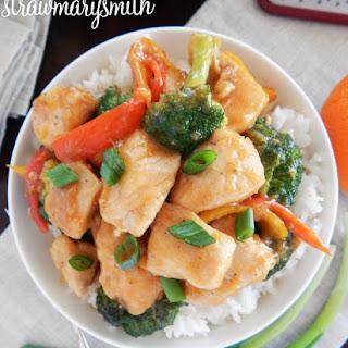 Orange Chicken & Broccoli Stir Fry