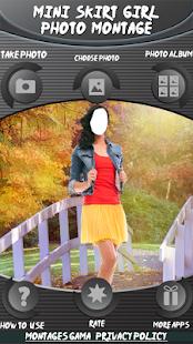 Mini sukně fotka montáž - náhled