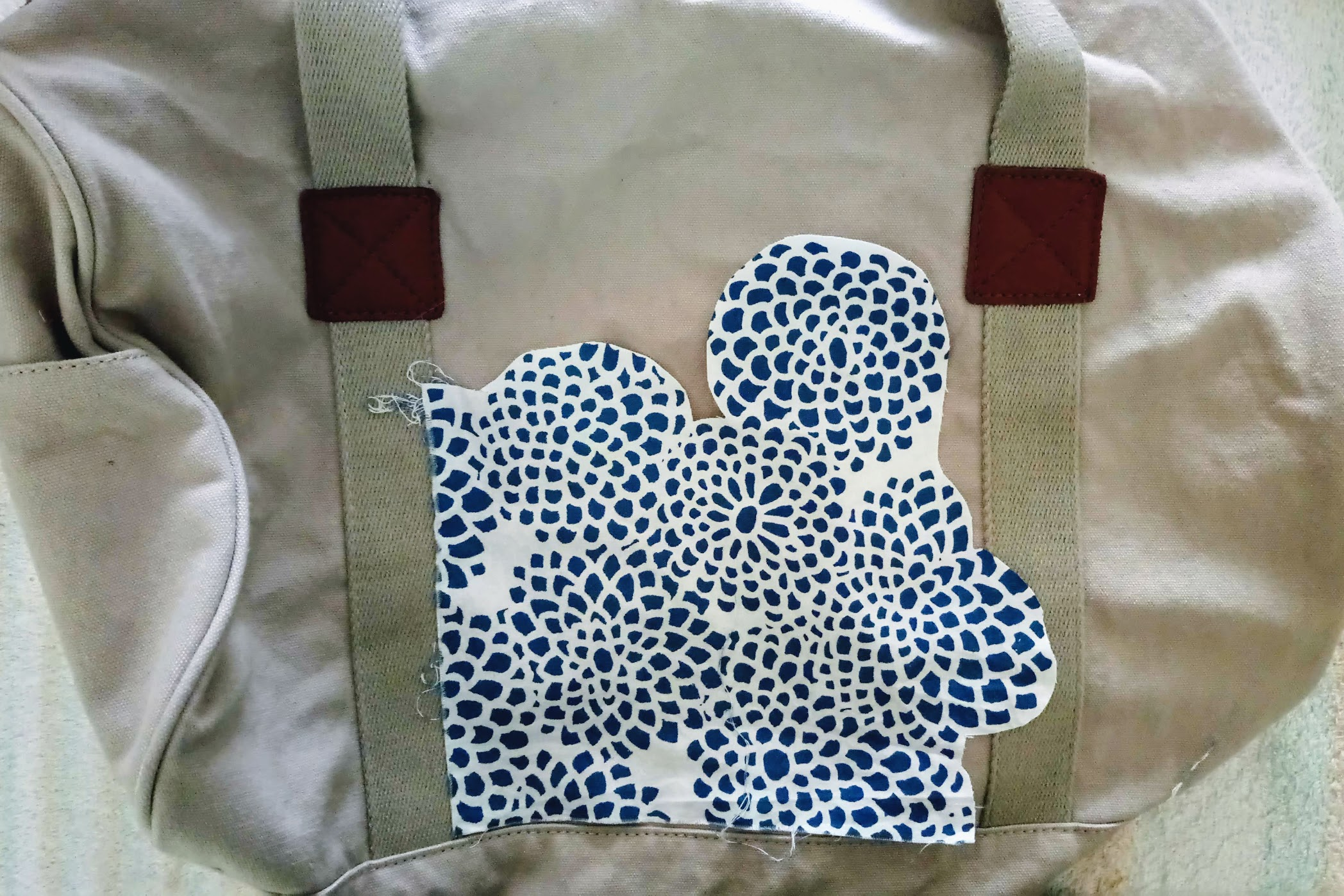 In-Progress: Duffel Bag Personalization with Fabric Appliqués - DIY Fashion Accessories