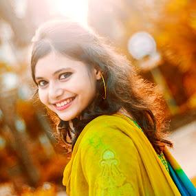Himika by Arafat Chowdhury - People Portraits of Women ( himika gorgeous beautiful smile at dohs mohakhali bangladesh )