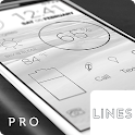 Lines Dark - Flat Black Icons icon