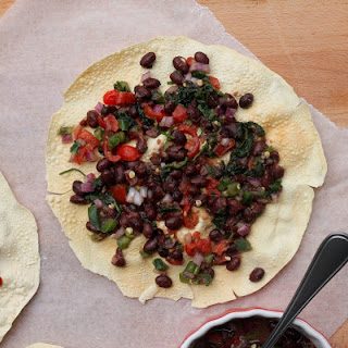 Masala Papad with Black Bean Salad