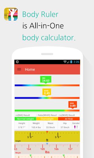 Body Ruler - BMI Calculator