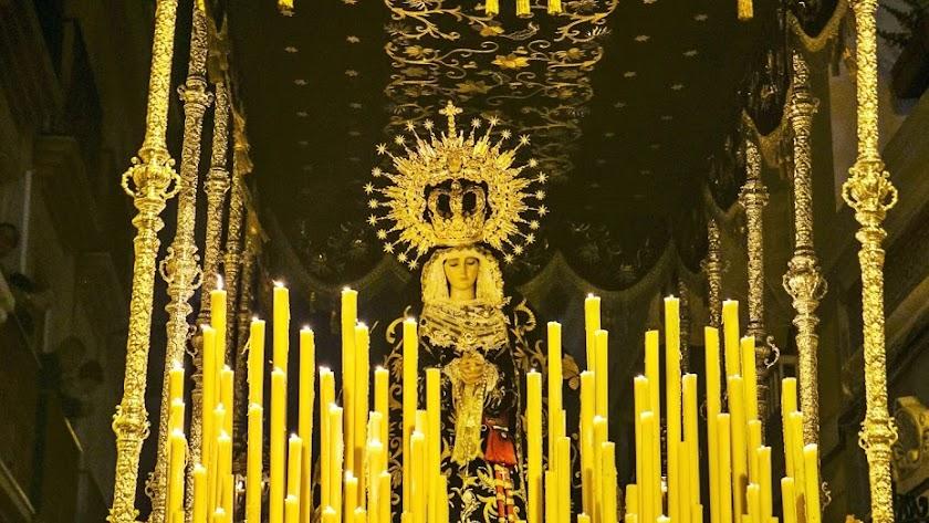 La Santísima Virgen del Consuelo, en un Jueves Santo pasado.