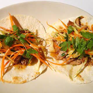 Vaguely Vietnamese Slow Cooker Pork Tacos.