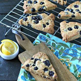 Grain Free Blueberry Lemon Scones.