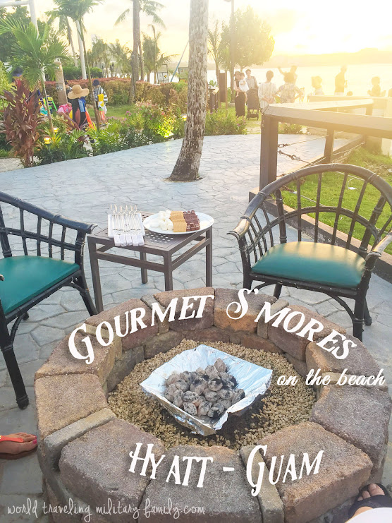 Gourmet S'mores on the Beach - Hyatt Hotel in Guam