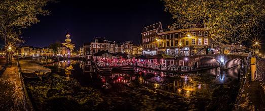 Photo: A late #summer #evening  in #Leiden / #Netherlands   #Panorama #nightphotography #Holland #Gracht