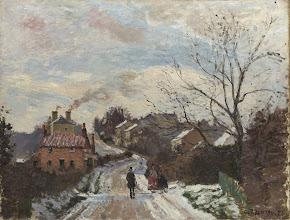 "Photo: Camille Pissarro, ""Fox Hill, Upper Norwood"" 1870)"