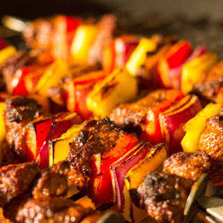 Grilled Spiced Lamb Kebabs.