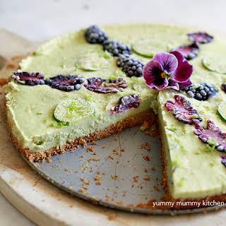 Vegan Key Lime Pie with Blackberry.