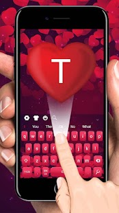 Red Love Keyboard Theme - náhled