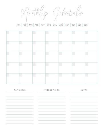 Scripty Schedule - Planner Template