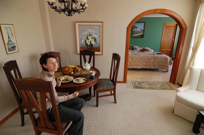 Photo: nas skromny pribytek u pani Reznickovy v La Pazu :)