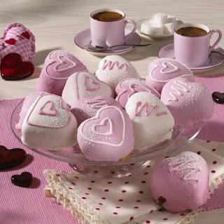 Cherry Heart Cakes