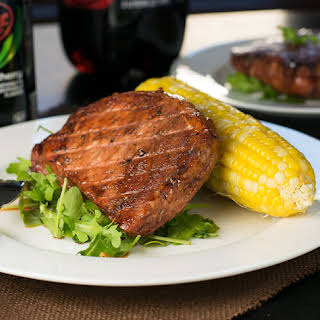 Dr Pepper® Cherry Glazed Pork Loin Chops.