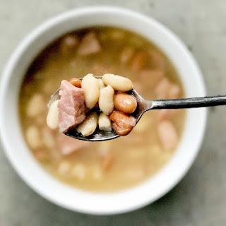 Instant Pot Ham And Bean Soup.
