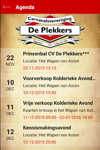android CV de Plekkers Screenshot 2