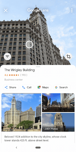 Use Google lens to explore nearby places