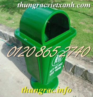 Thùng rác treo 55 lít chân nhựa