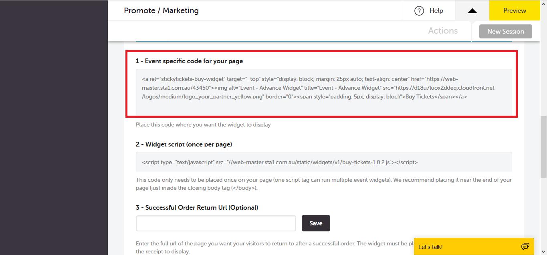 Adding Advanced Widget Script to your WordPress site  : Customer